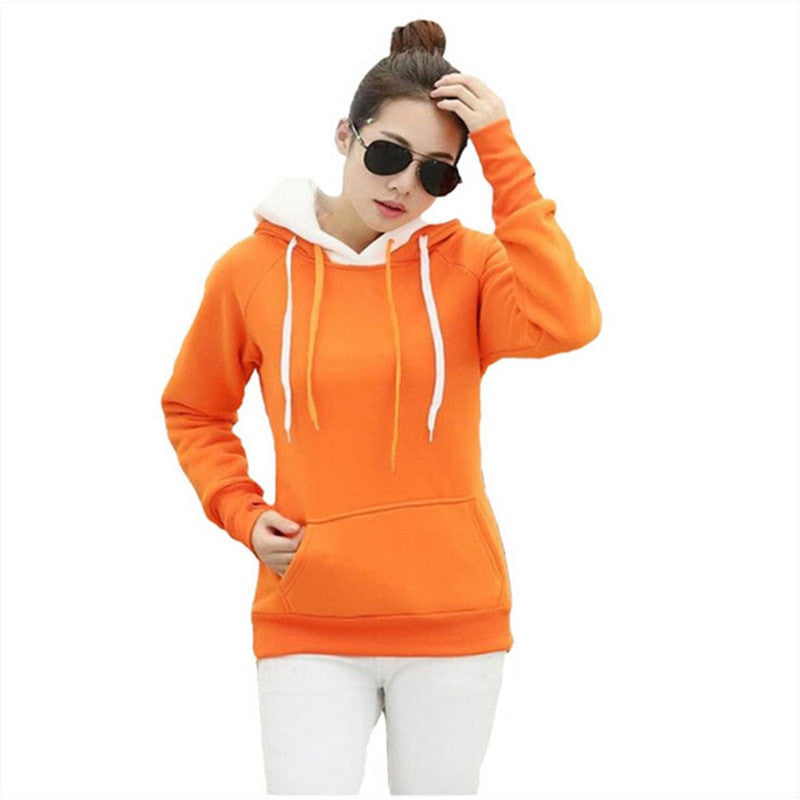 Double Hood Long Sleeve Casual Sweatshirts