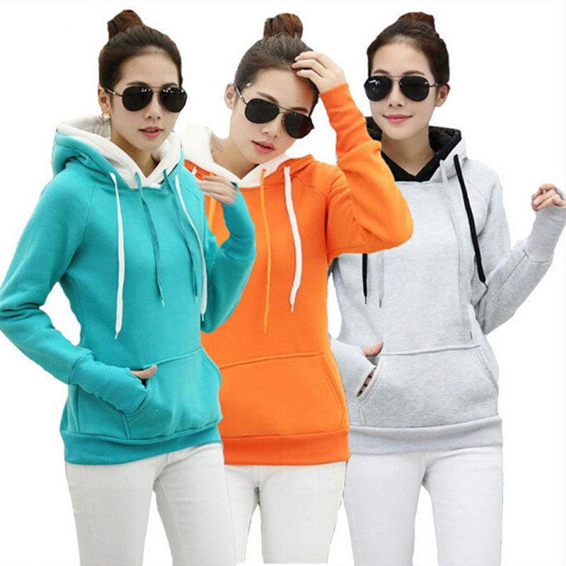 Double Hood Long Sleeve Casual Sweatshirts - FitShopPro