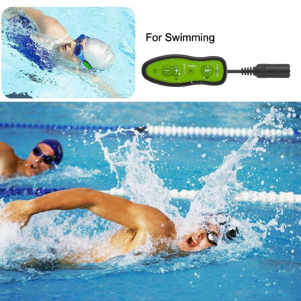 Waterproof Swimming MP3 Player With Ear-Hook Headphones