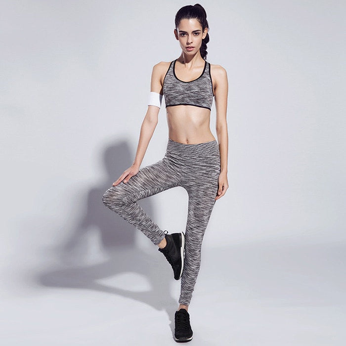 Fashion Women Highly Elastic Sports Outfit - Mottled Pattern - FitShopPro.com - 3