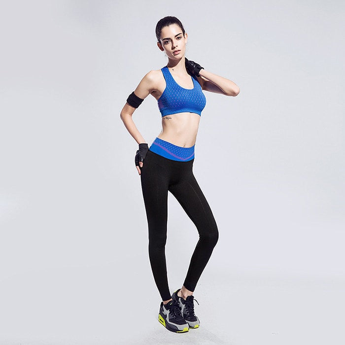 BUNDLE: Women Breathable Strech Training Push Up Sport Bra + LEGGING - FitShopPro