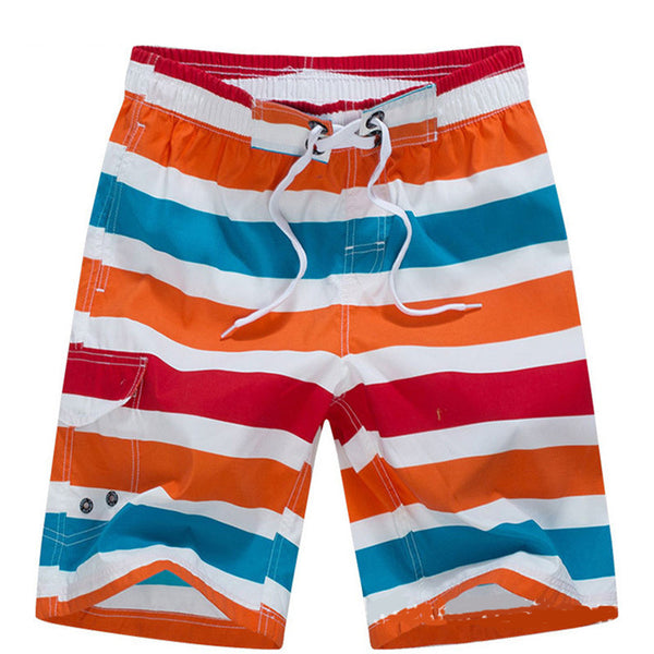 Striped Men Swim Short with side pocket