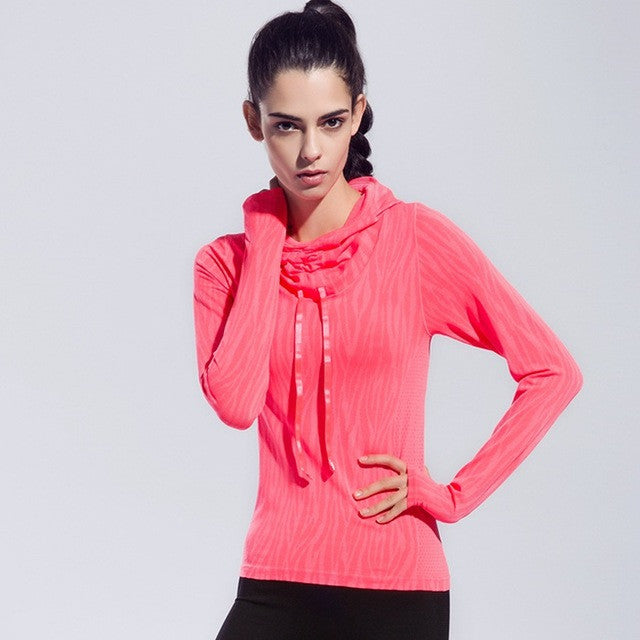Animal Print - Women Fitness Running Hooded Jackets