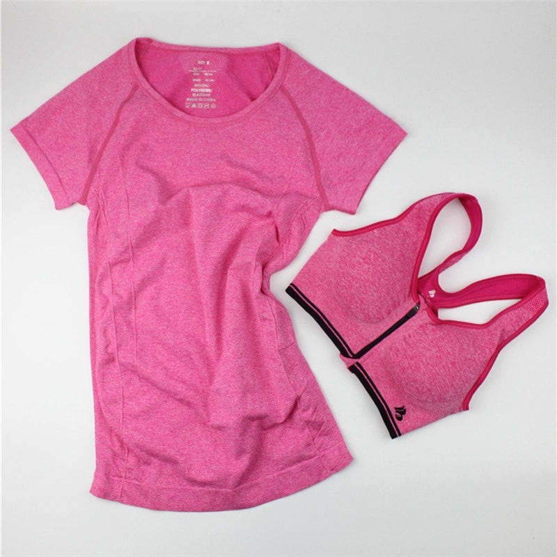 BUNDLE:Casual Women Shirt + Fast Drying Zipper Sport Bra - FitShopPro.com - 5