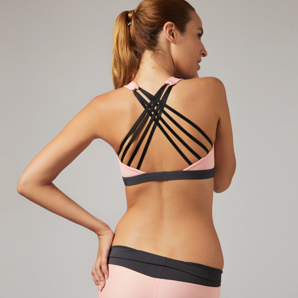 Sexy Push Up Multi Stripe Top For Running