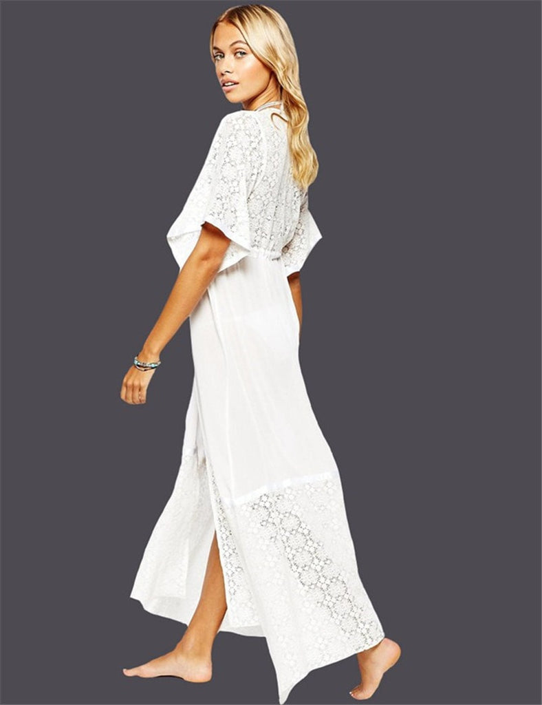 Lace Long Beach Dress - FitShopPro