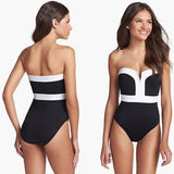 Black & White Retro One Piece Swimsuit