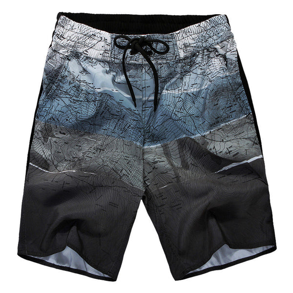 Cartography Print Men Swimming Short