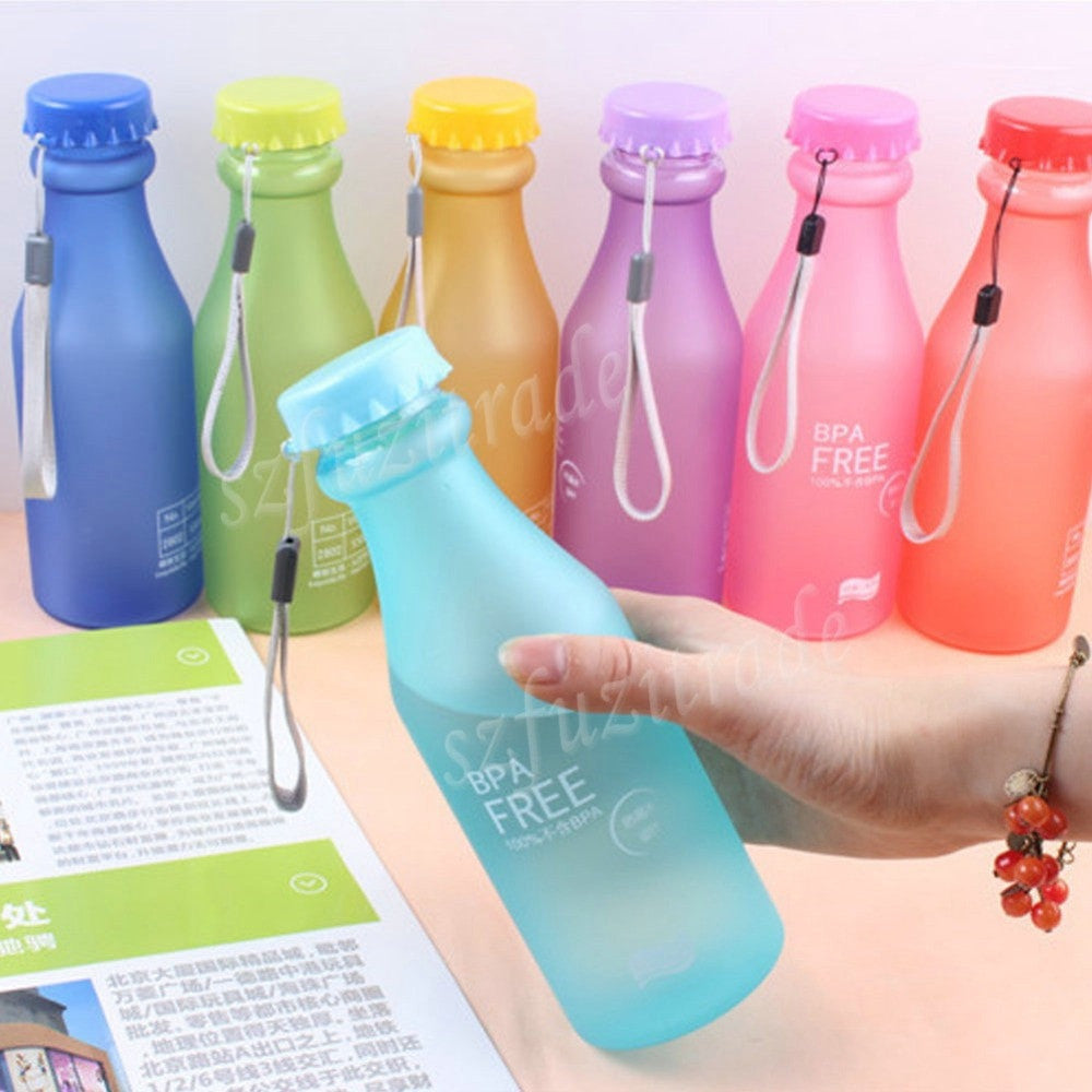 550ML Candy Colord Plastic Water Bottle - BPA Free - FitShopPro