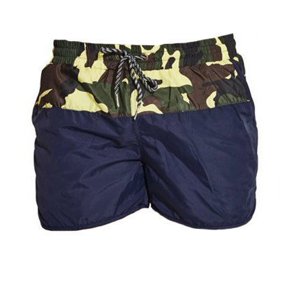 Half Camouflage Swimming Shorts