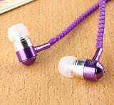 In-Ear Wired Metal Zipper Earphones With Microphone - FitShopPro