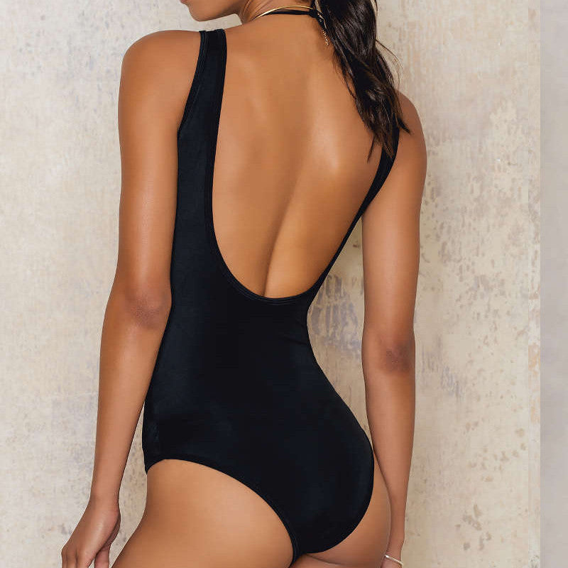 Samantha - Deep Cleavage Lacing Monokini