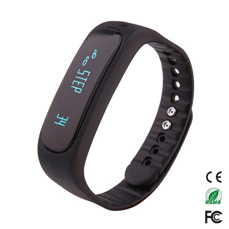 sport silicone smart bracelet for ios android
