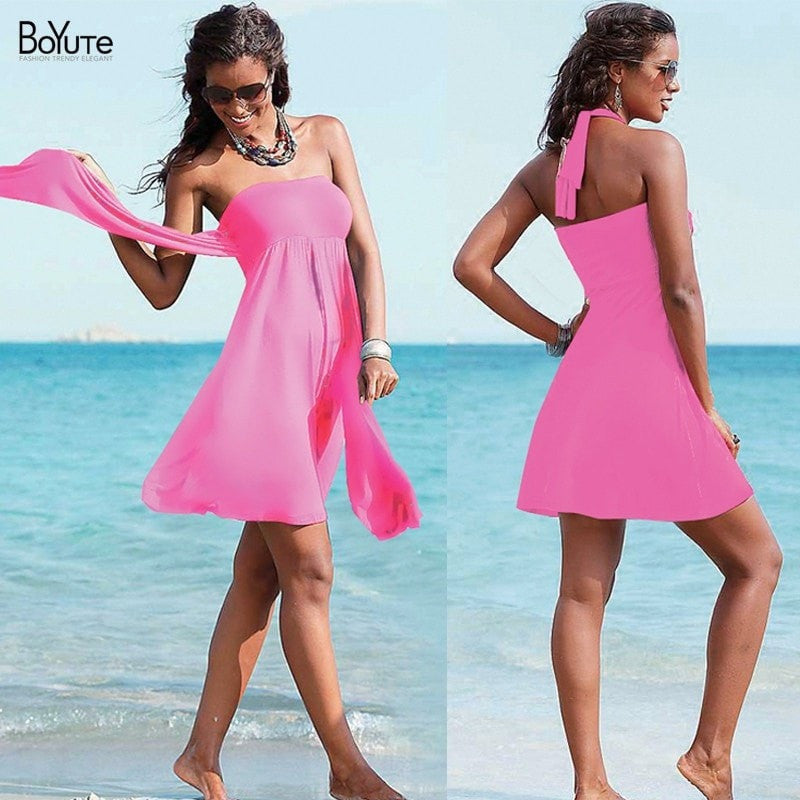 Multi Wear Women Summer Beach Dress - FitShopPro