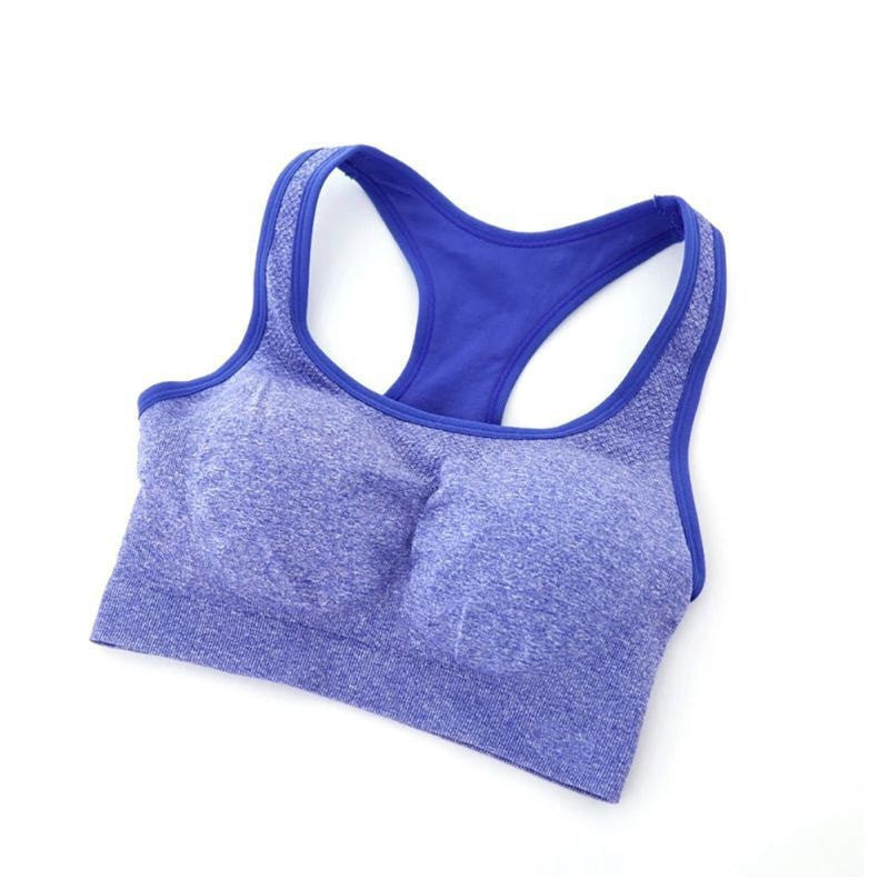 Gym Stretch Padded Racerback Sports Crop Top - FitShopPro