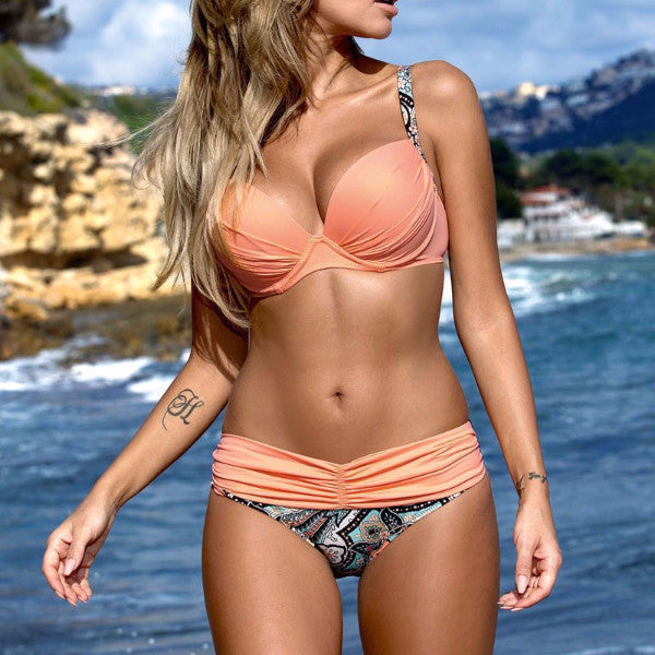 Push Up Summer Bikini Candy Colors Set