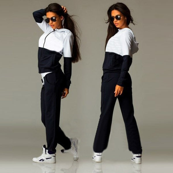 2 Piece Cotton Jogging Tracksuits for Women - FitShopPro