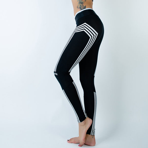 Slim Fitness Leggins With White Stripes
