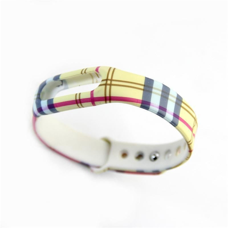 Patterned Silicone Interchangeable Band for Xiaomi Smart Bracelet