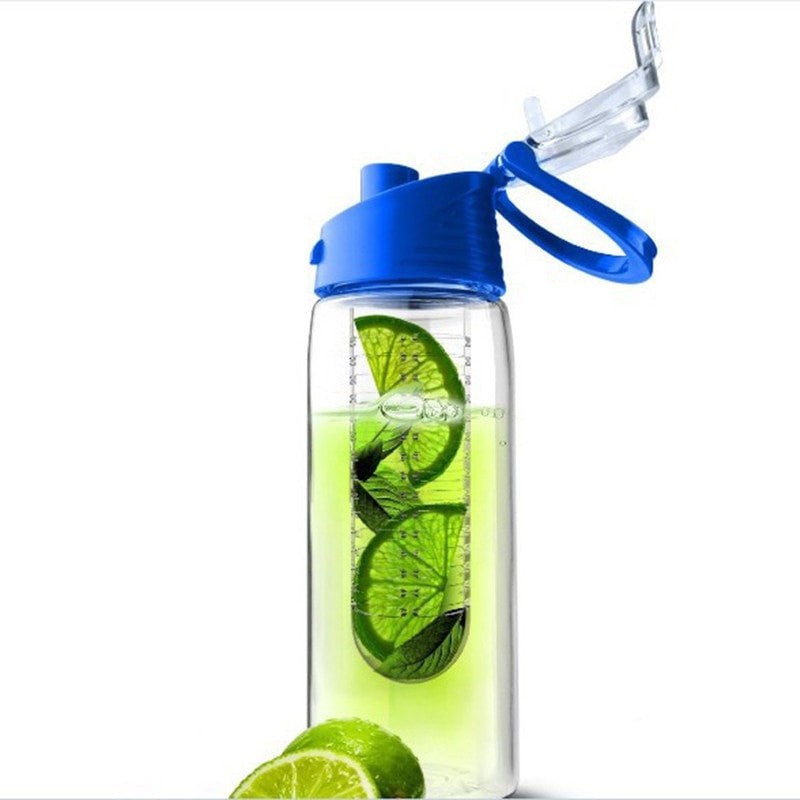 Flip Lid Fruit Infuser Water Bottle - Eco-Friendly BPA - FitShopPro