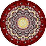 Indian Mandala Boho Beach Round Blanket Decor