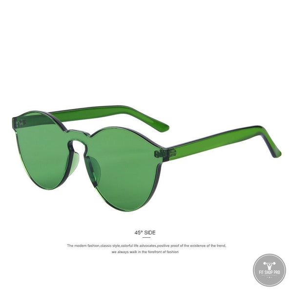 Candy Color Plastic Integrated Sunglases