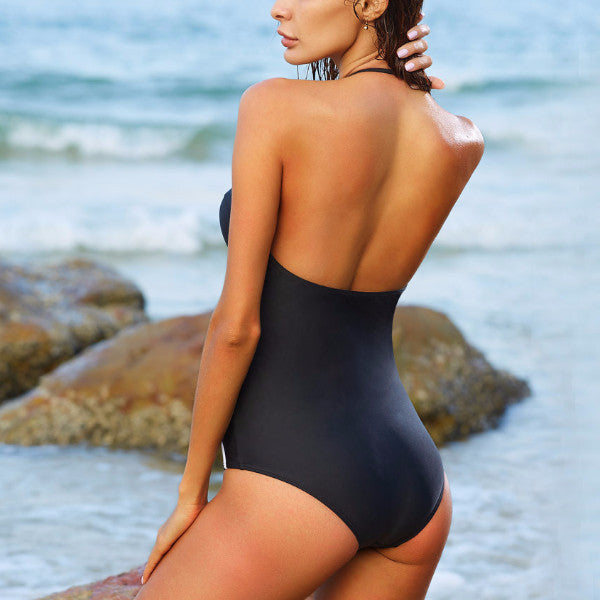 Helena - Black and White Classy Swimsuit