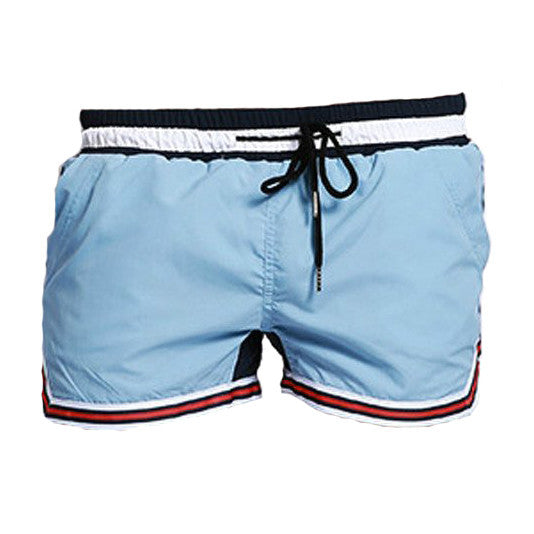 2 Color Patchwork Swimwear Men Short