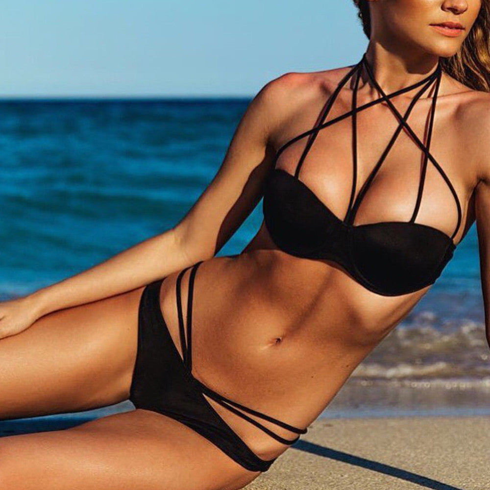 Kim - Strappy Push Up Bikini