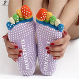 Multicolor Cotton 5 fingers Socks - FitShopPro
