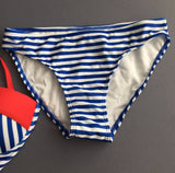 Sexy Sailor Push Up Striped Swimsuit