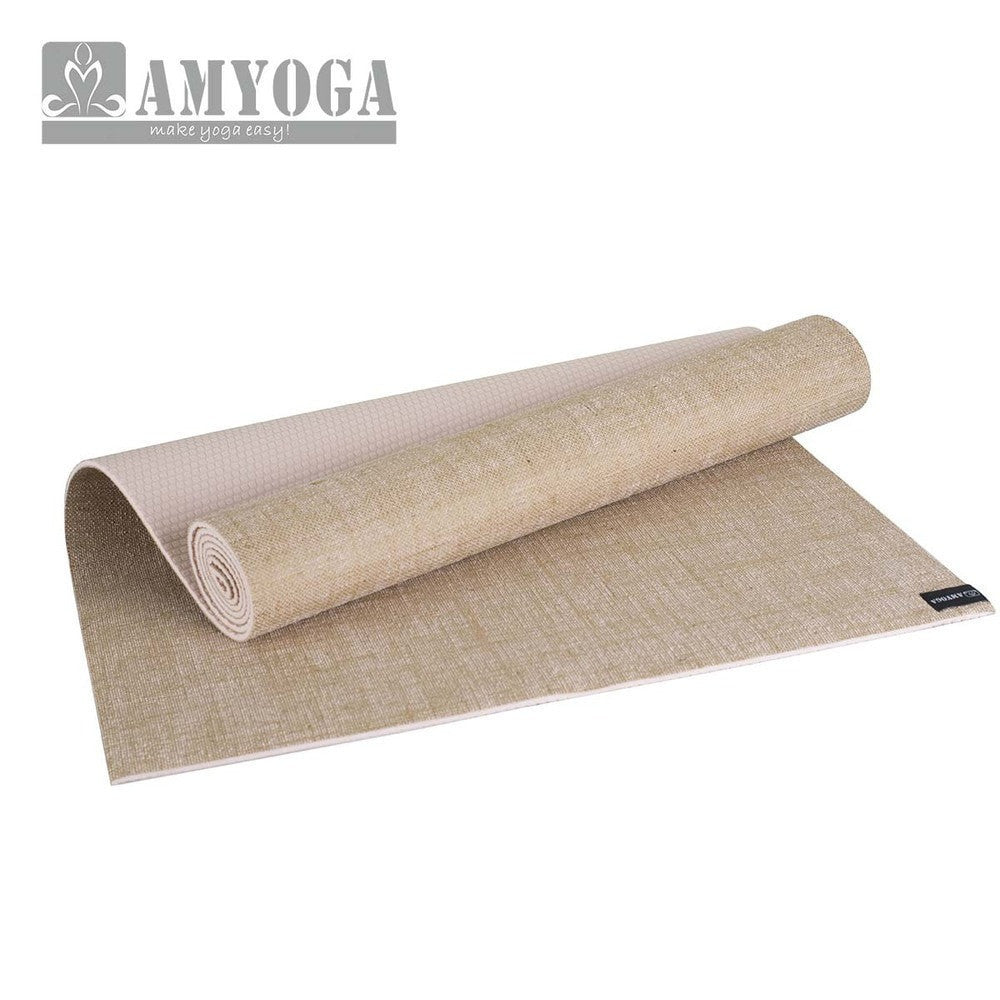 Organic Jute Yoga Mat with Durable Carry Bag - FitShopPro