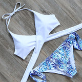 Rachel - Wrap Around Bikini with Printed Bottom