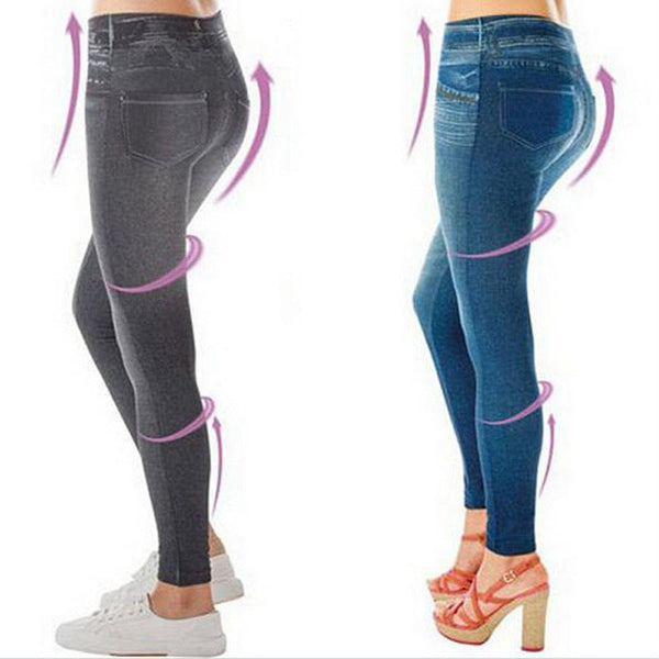 Slim High Waist Jeggings Denim for Women with Pocket - FitShopPro.com - 1