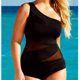 Arianna - One Shoulder Black Swimsuit