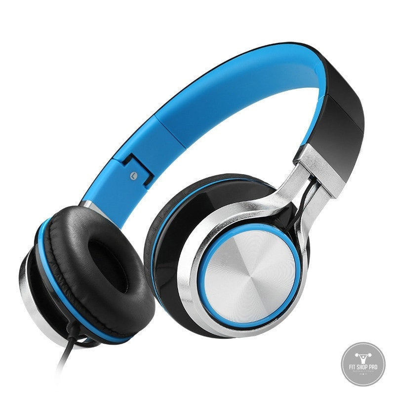 Headsets Bass Wire Foldable Headphones - FitShopPro