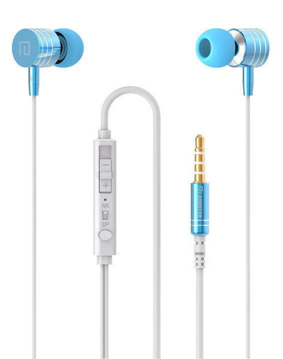 Metal Stereo Bass In-Ear Headset With Mic - FitShopPro