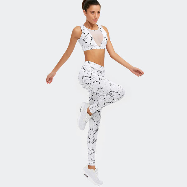 Sexy & Fresh White Diamonds Yoga Fitness Set