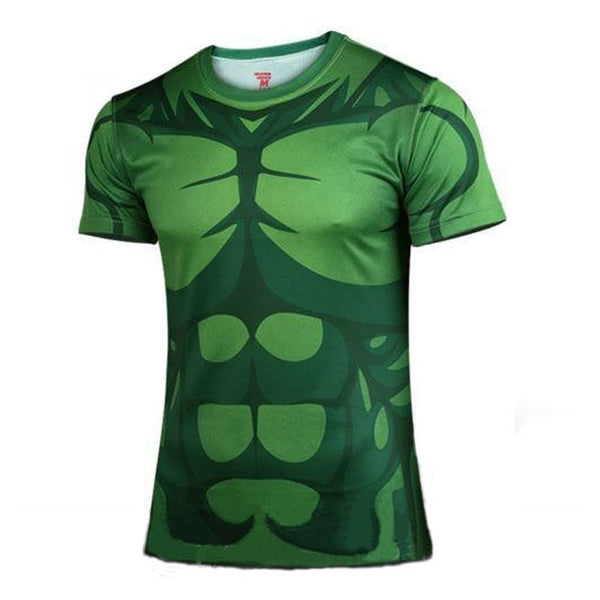 Marvel / Avengers Superhero Men Short Sleeve T Shirt - Quick dry - FitShopPro