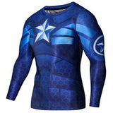 New SuperHero Sport Fitness Compression Shirt - Long Sleeve - FitShopPro