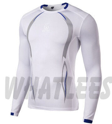 Newest Fitness Men Body Building Gym Compression Shirt - Long Sleeve - FitShopPro