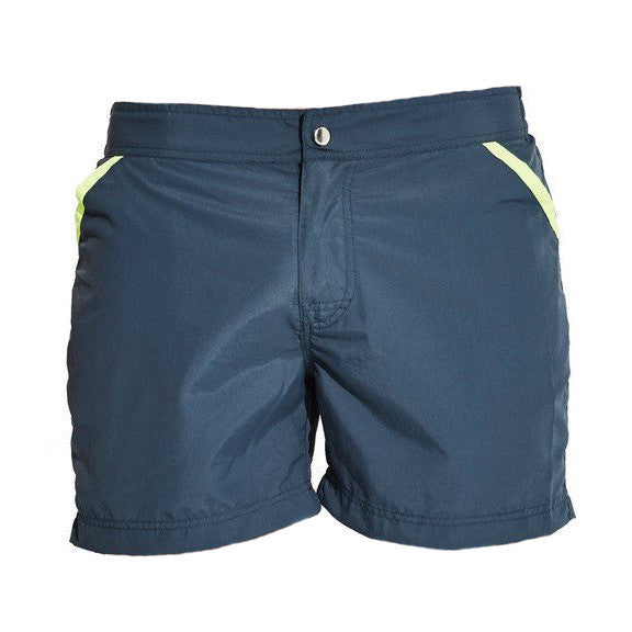 Zipper Closure Quick Dry Swimming Shorts