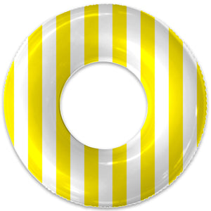 THE PETITE YELLOW STRIPE FLOAT