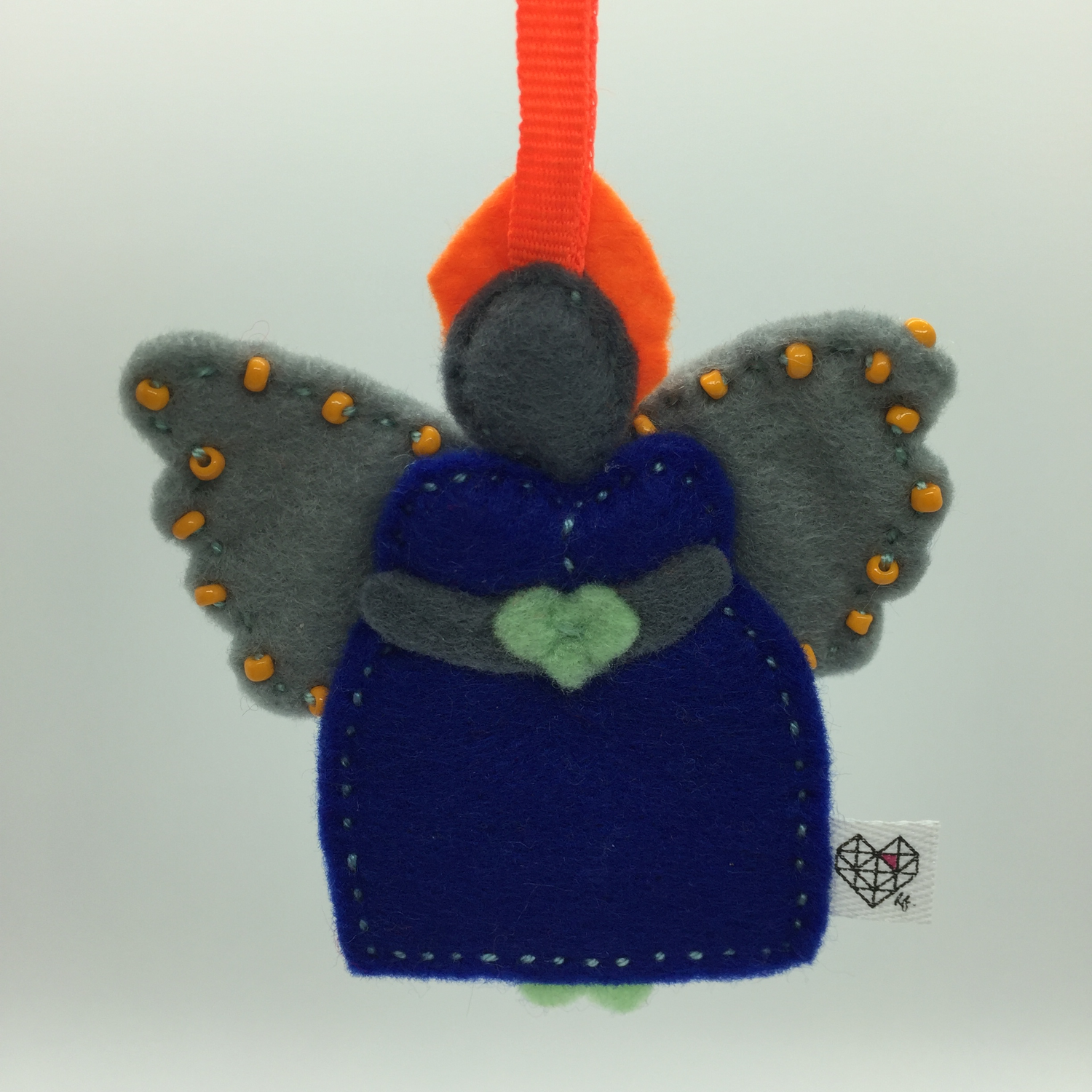 African Angel  Christmas Ornament