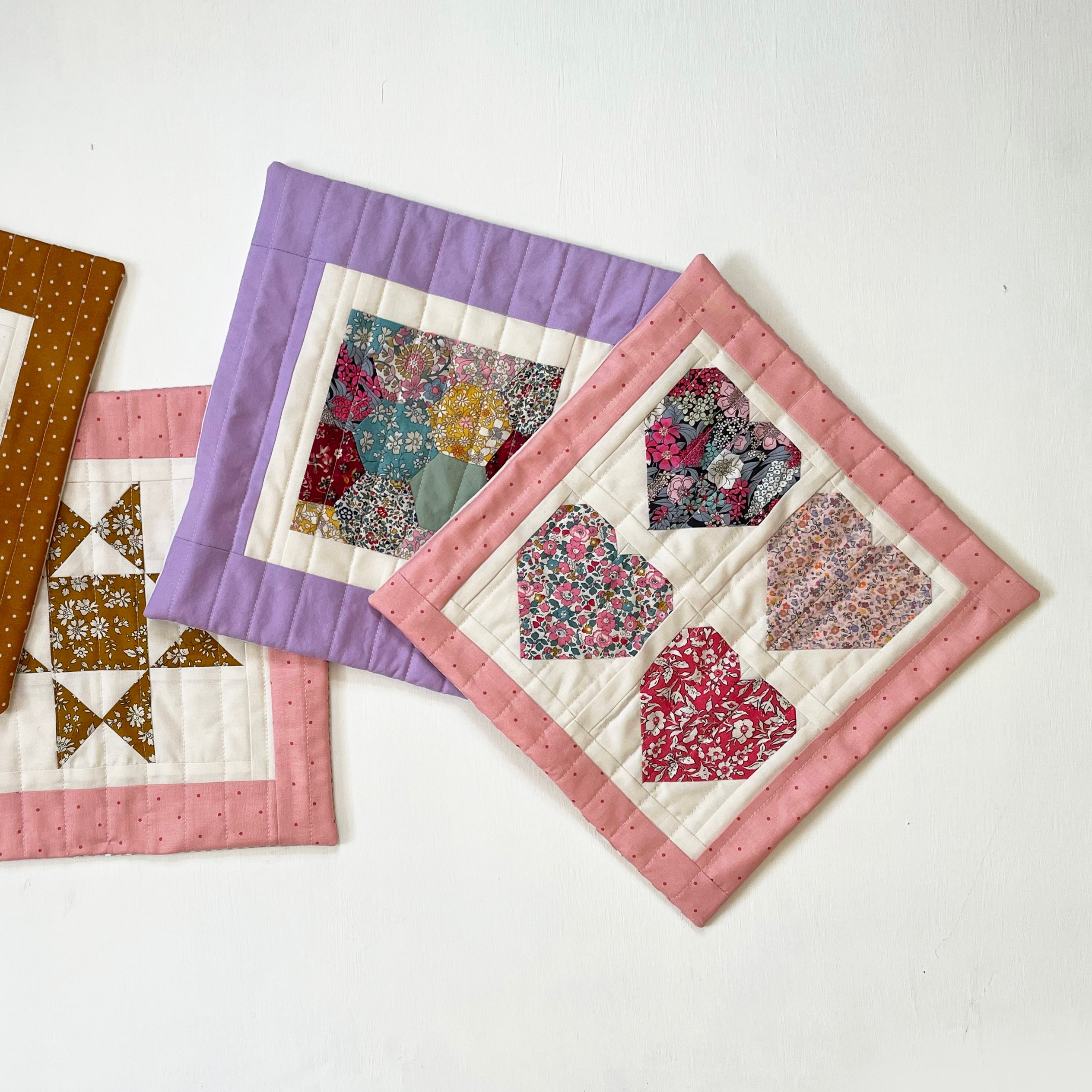 Doll Quilt, Hearts