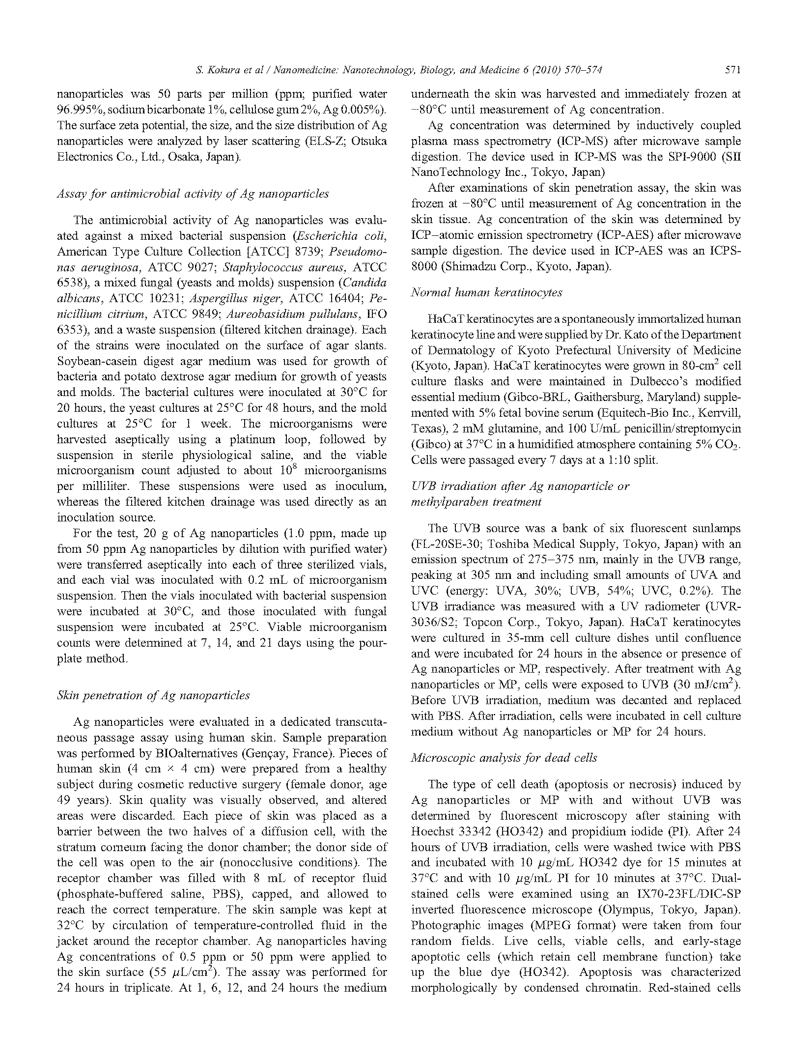 Silver nanoparticles as a safe preservative for use in cosmetics page 2