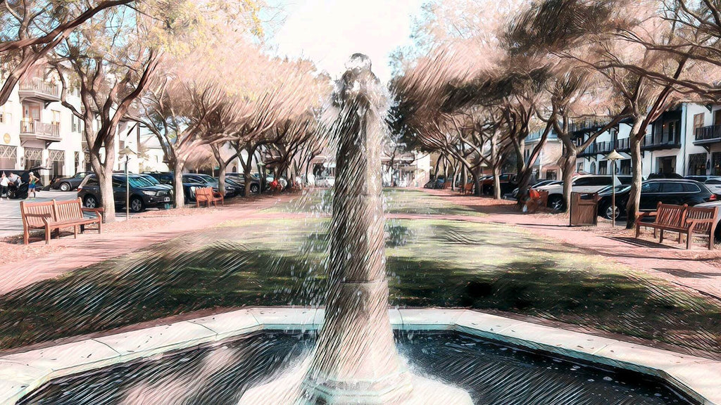 Barrett Square Fountain, Rosemary Beach, FL