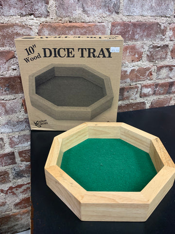 "10"" Wooden Dice Tray"