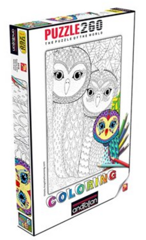 260 - Colouring Owls Family