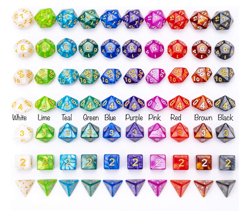 Polyhedral Dice (singles or 7 dice set)